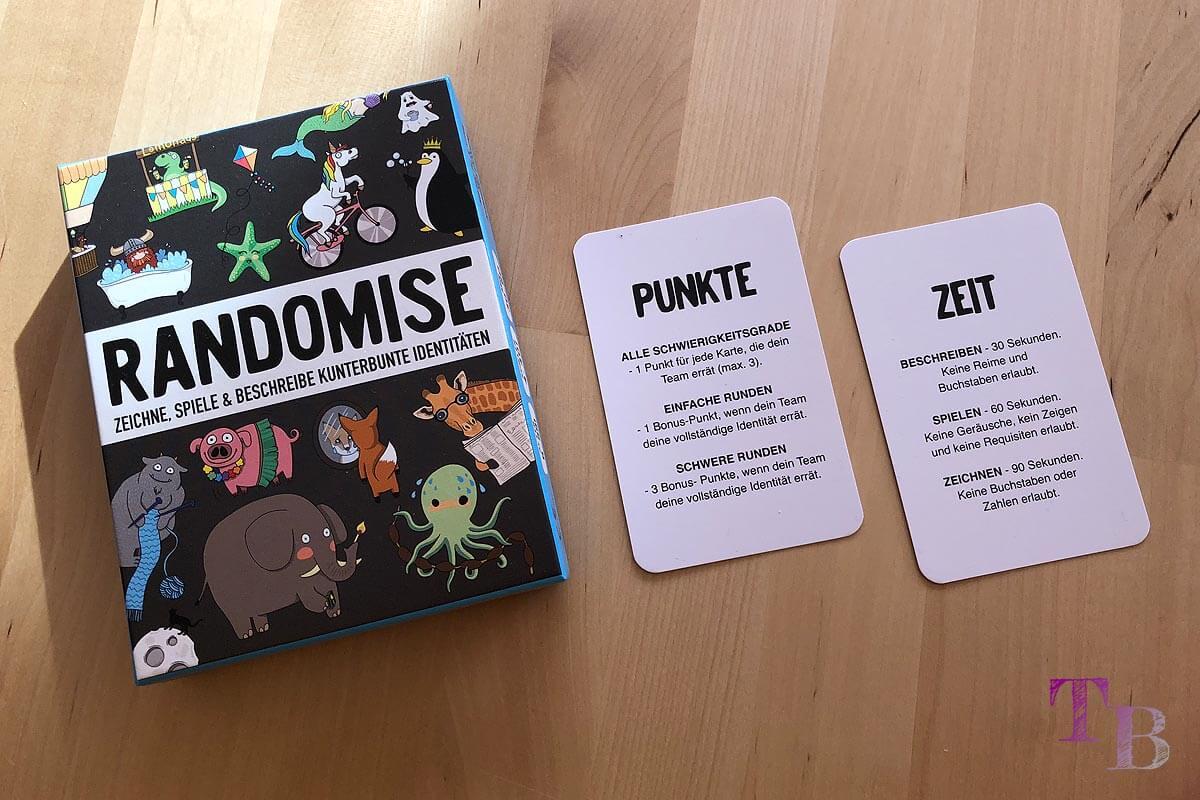 Gamely Games Randomise Spiel Partyspiel Zeit Punkte Karten