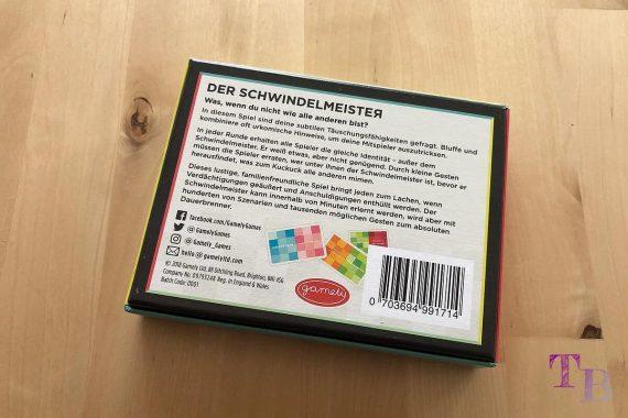 Gamely Games Der Schwindelmeister The Pretender Rückseite