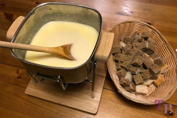 Käsefondue Fondue fertig genießen