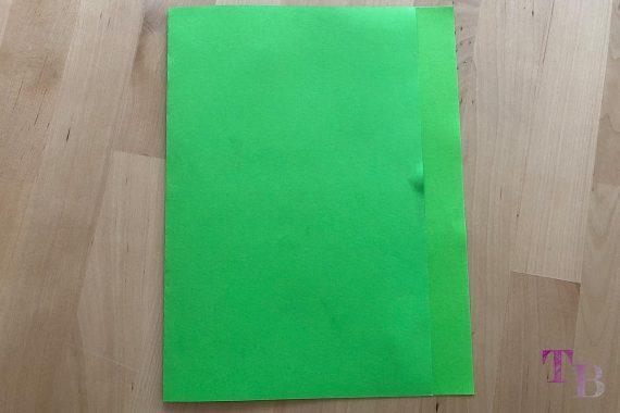 DIY Papiertüte DIN A4 Blatt falten