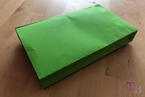 DIY Papiertüte DIN A4 Blatt fertig offen