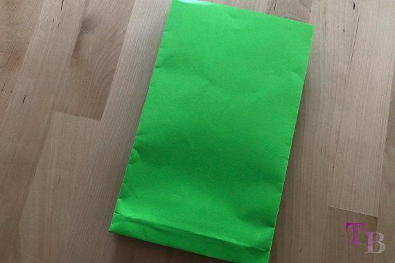 DIY Papiertüte DIN A4 Blatt fertig