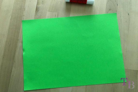 DIY Papiertüte DIN A4 Blatt quer