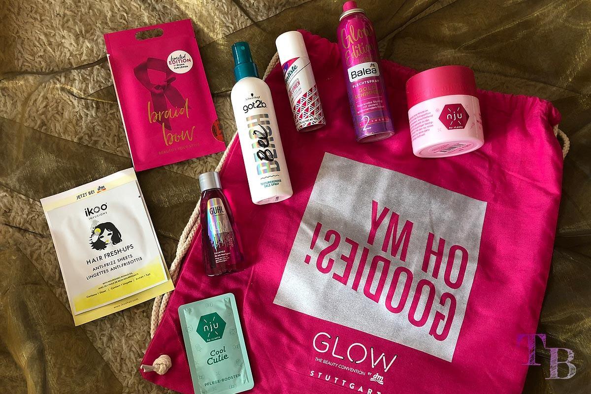 GLOW Goodie Bag Stuttgart Haar Pflege Styling Produkte