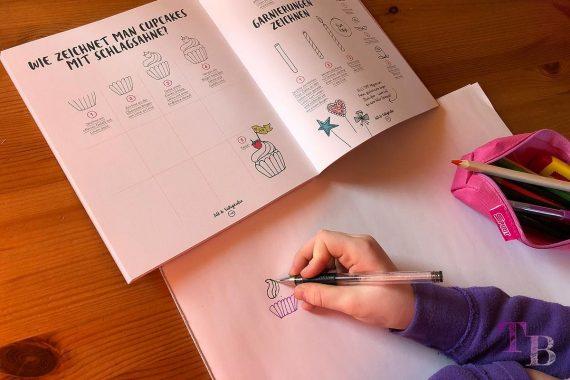 Jills Welt Zeichnen mit Jill Buch Cupcakes Sahne