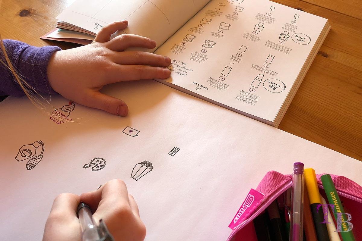 Jills Welt Zeichnen mit Jill Buch Einblick Beauty Lippenstift