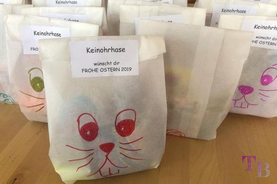 Keinohrhase DIY Papiertüte Frohe Ostern Ostergrüße