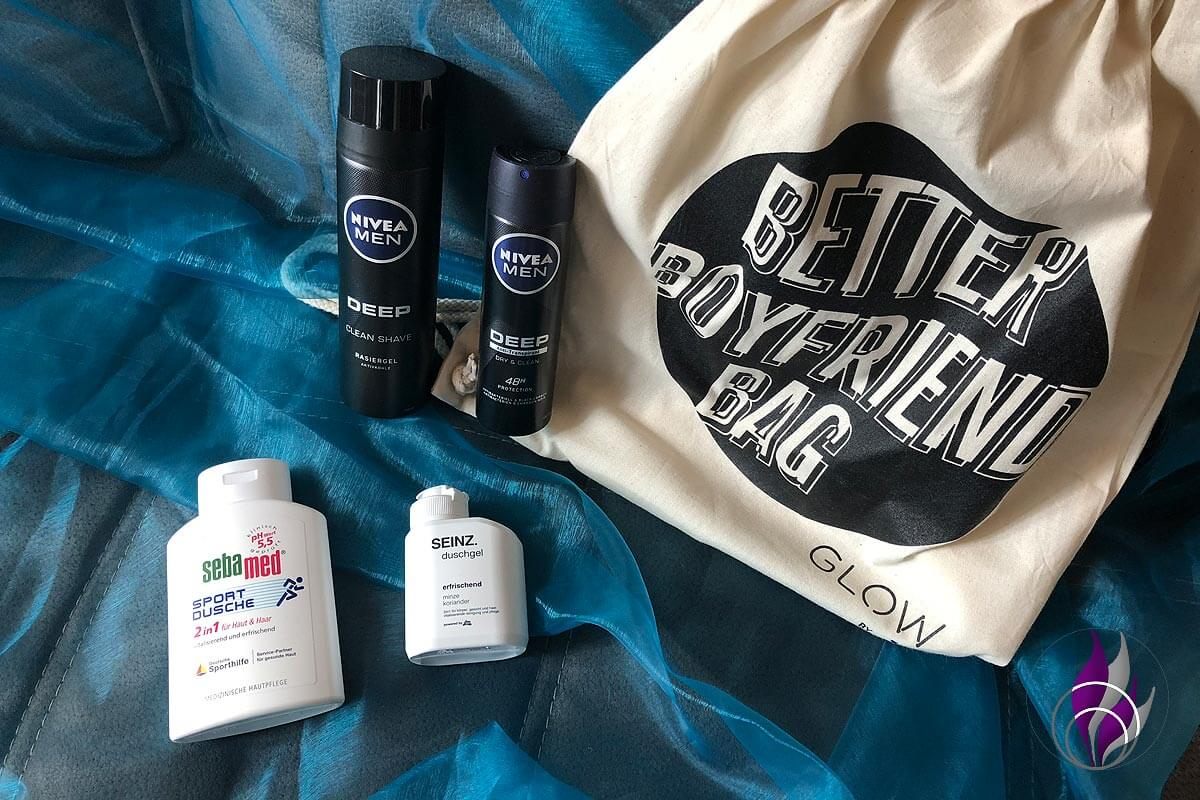 Better Boyfriend Bag GLOW by dm Stuttgart 2019 sebamed SEINZ Nivea Men