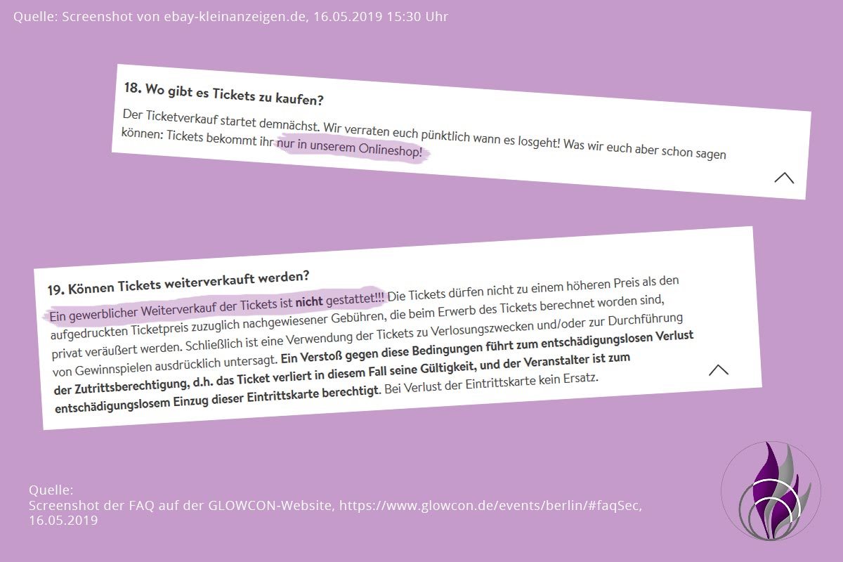 GLOW by dm Berlin 2019 GLOWcon Ticket FAQ