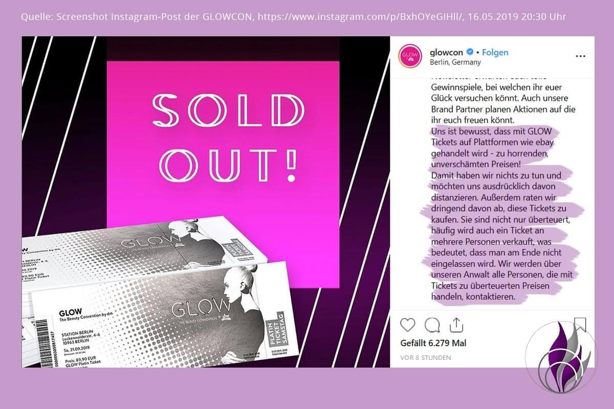 GLOW by dm Berlin 2019 GLOWcon Ticket Instagram Post