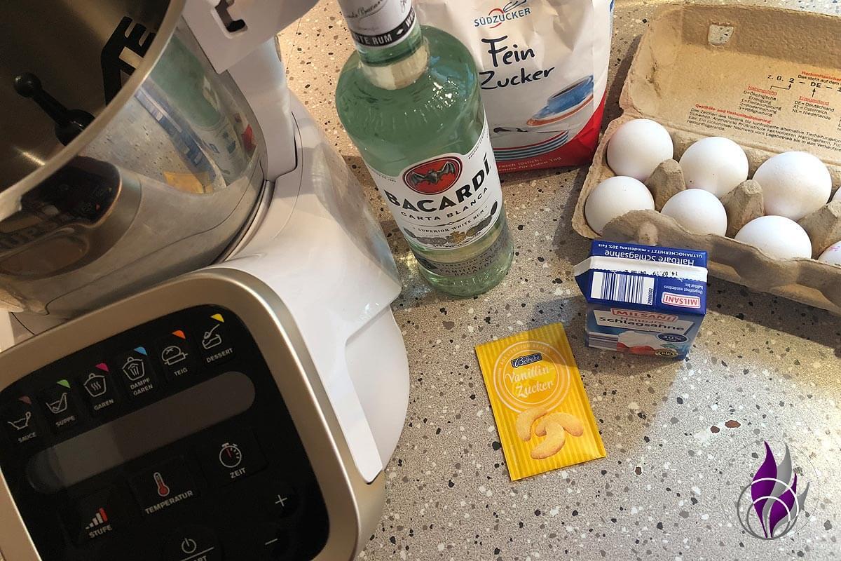 Prep and Cook Eierlikör Zutaten