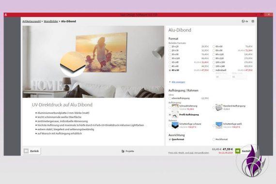 Saal Digital Fotoservice Wandbild Alu Dibond