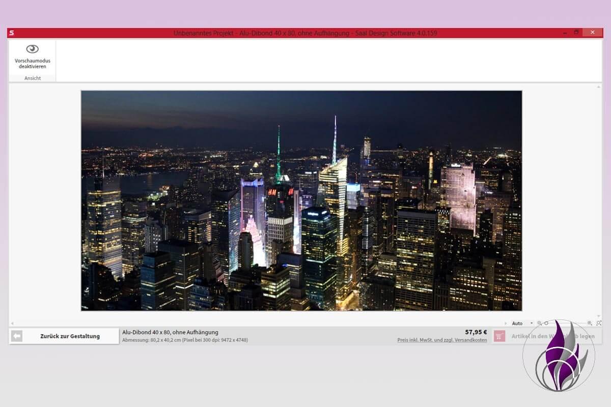 Saal Digital Fotoservice Wandbild Gestaltung Vorschau