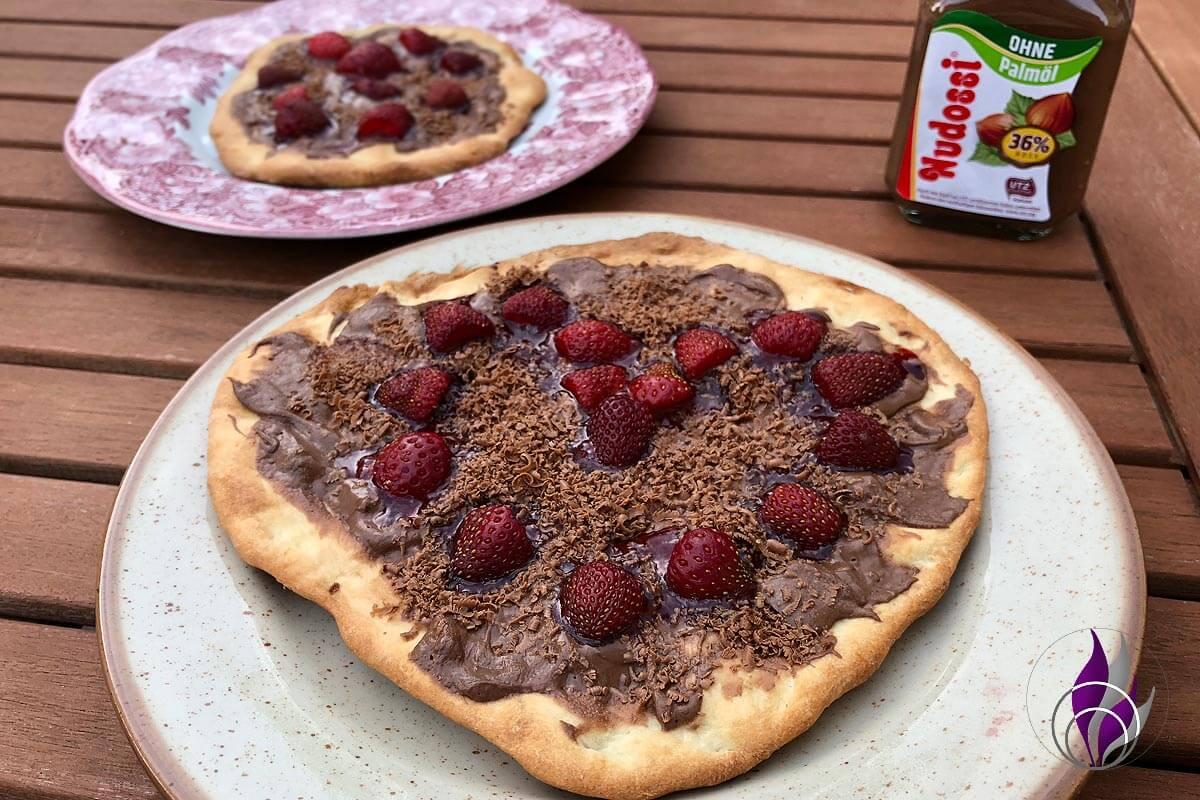 Nudossi #nudossijahresvorrat Genuss Pizza süß Schokopizza
