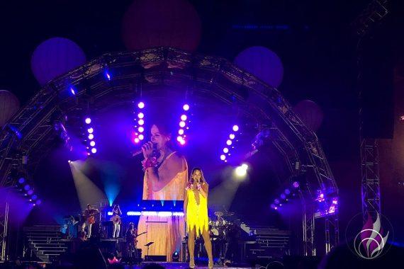 Andrea Berg Heimspiel 2019 gelbes Kleid Sommerparty