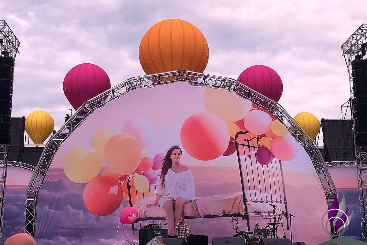 Andrea Berg Heimspiel 2019 Vorhang Mosaik