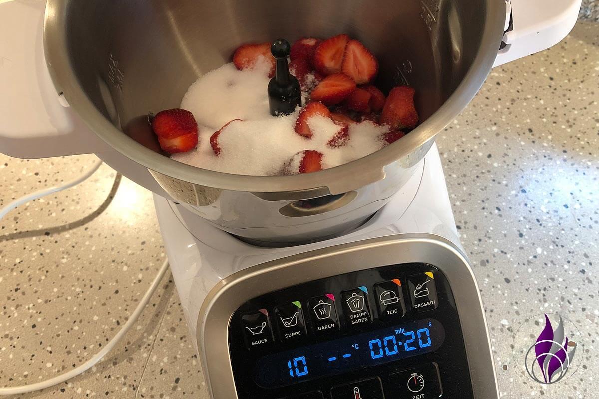 Erdbeer-Sahne-Likör Prep&Cook Erdbeeren pürieren