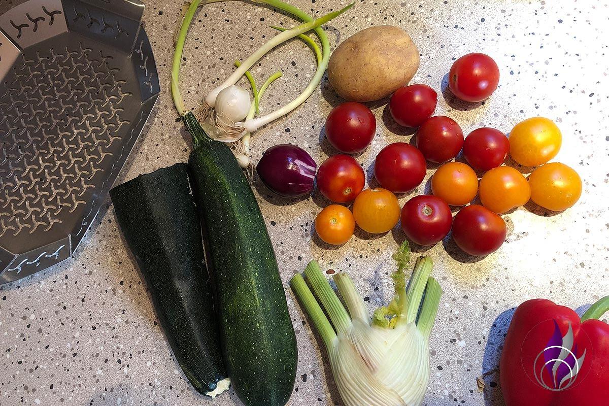Grillgemüse Gemüse Zutaten