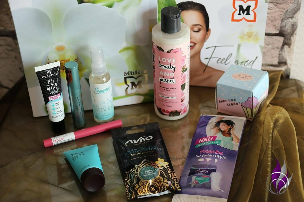 Müller Look-Box Produkte Inhalt