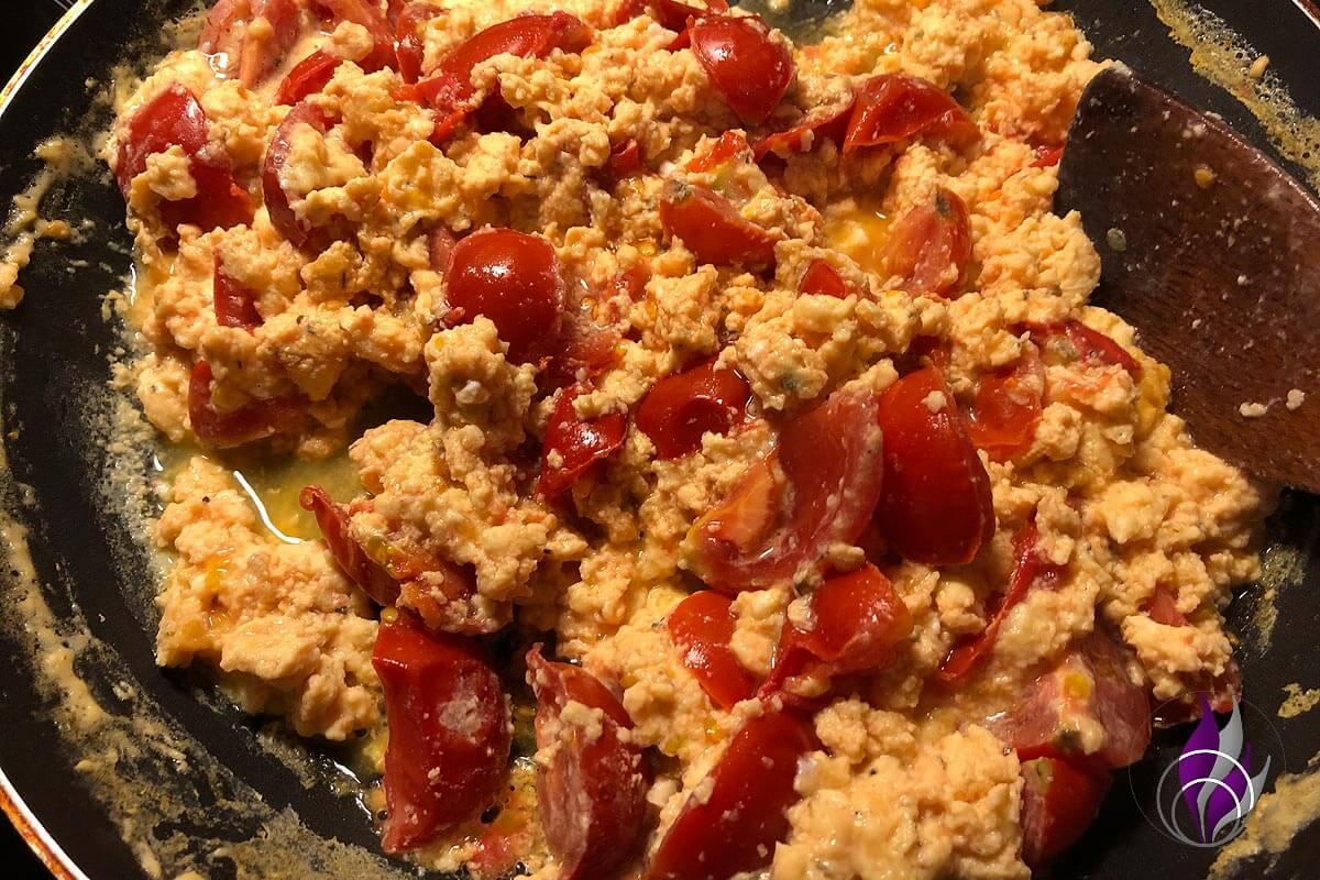 Tomaten-Eier fertig