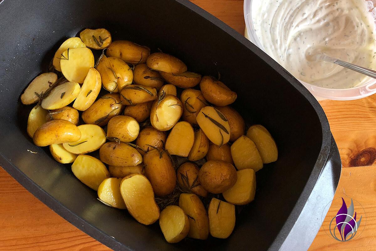 Rosmarinkartoffeln Kräuterquark