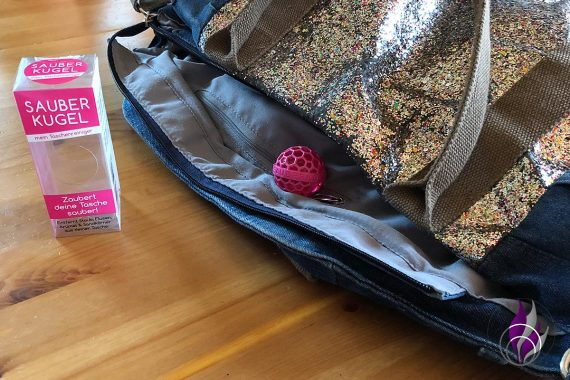 Sauberkugel Taschenreiniger Handtasche