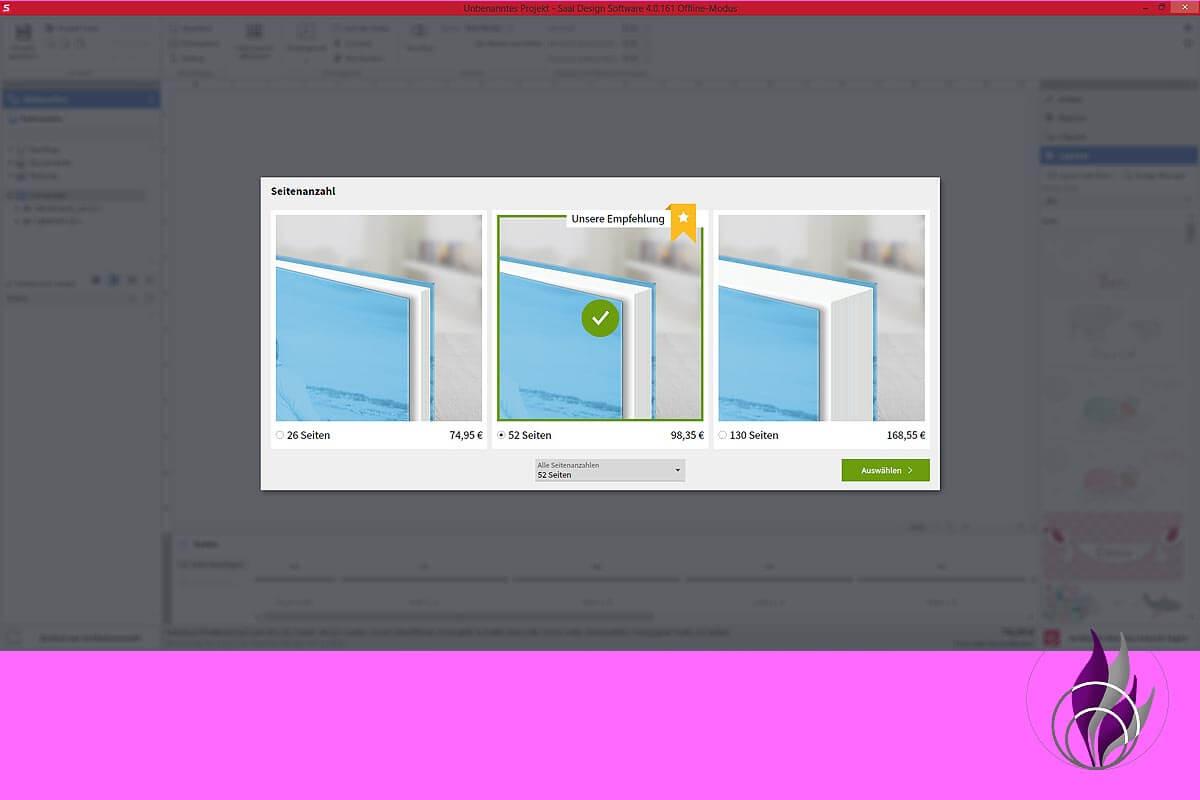 Fotobuch Software Seitenanzahl