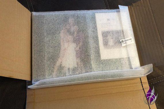 Saal Digital Verpackung Schutz Fotobuch