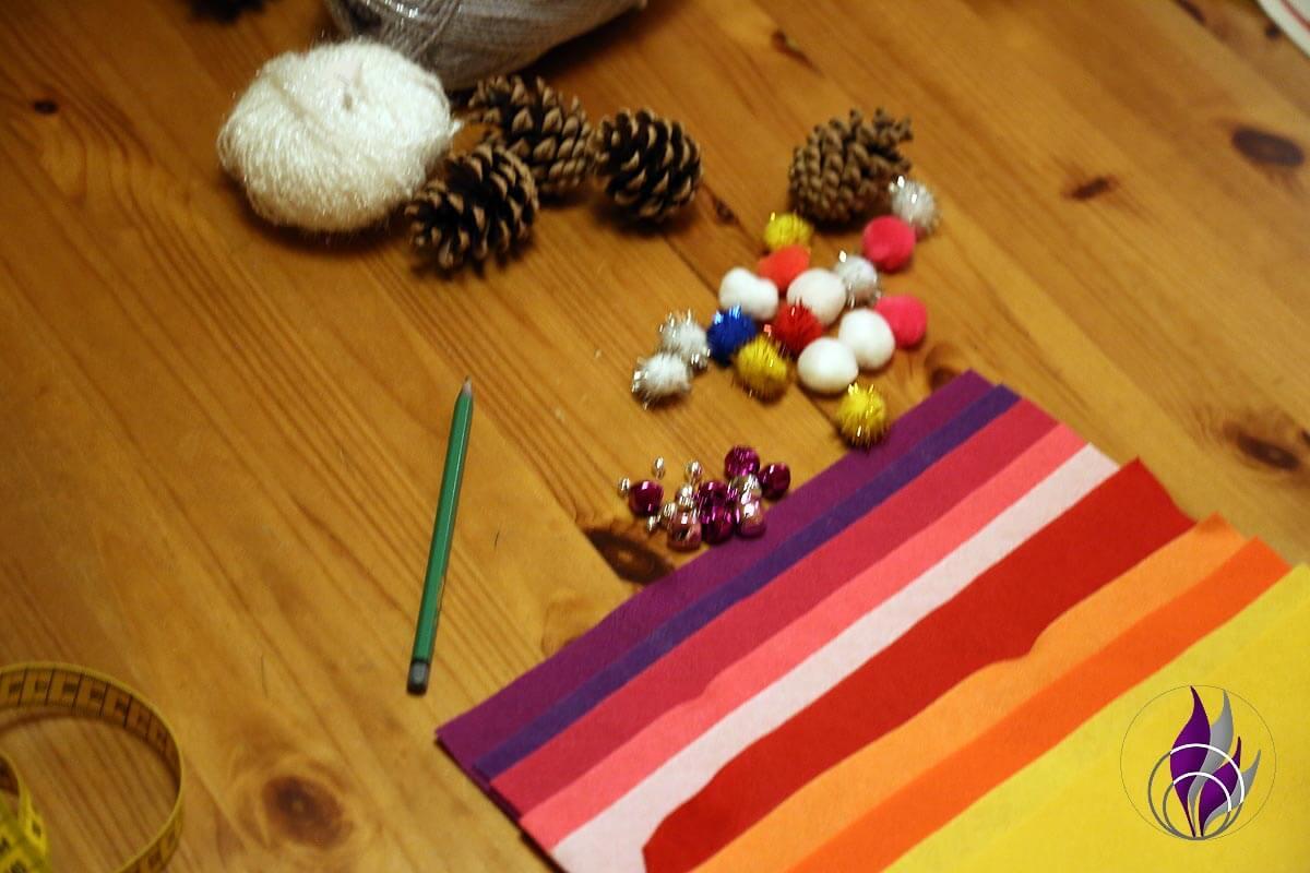 Wichtel DIY Weihnachten Material